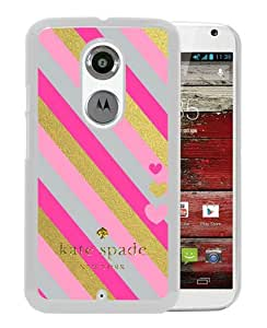 Personalized Design With Kate Spade 129 White Motorola Moto X 2nd Generation Protective Cover Case