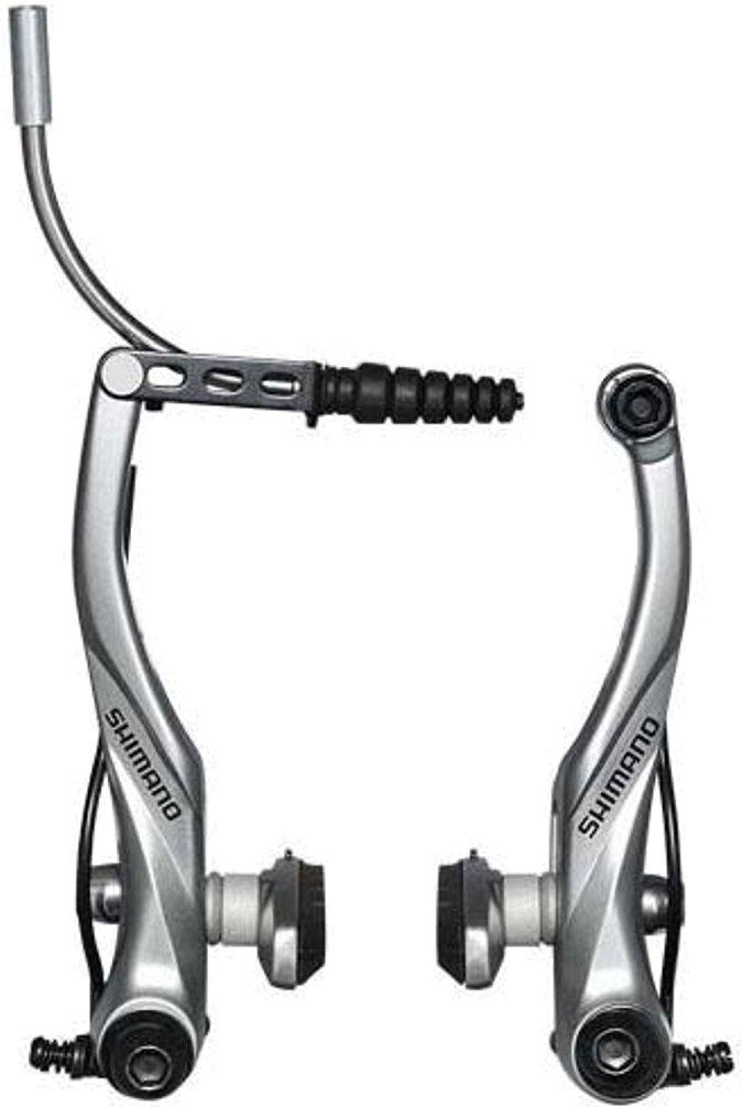 SHIMANO Mountain Bicycle V-Brake - BR-T4010 (Silver - Rear) by SHIMANO
