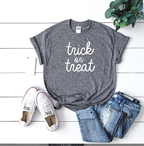 1c60c5bf7 Image Unavailable. Image not available for. Color: cute women's halloween  shirt halloween custom trick or treat tee ...