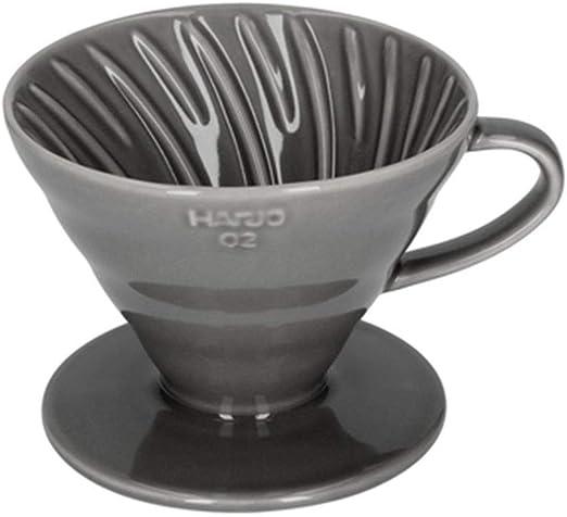 HARIO V60-02 - Cafetera de cerámica, color gris: Amazon.es: Hogar