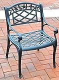 Cheap Crosley Furniture Sedona Cast Aluminum Arm Chair, Charcoal Black,Set of 2