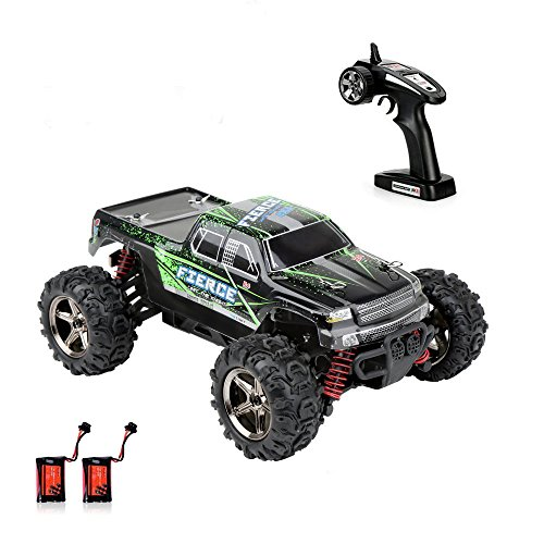 Crenova 1/24 Scale RC Car 4WD 30MPH Radio Controlled Car RTR Fast Racing Cars Electronic Car 2.4Ghz 3-Stage Differential Gear Offroad Monster Truck RC Vehicle with 2 Rechargeable Batteries