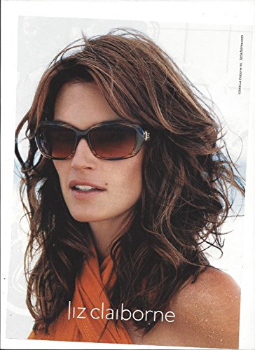 MAGAZINE ADVERTISEMENT With Cindy Crawford For 2006 Liz Claiborne - Liz Sunglasses