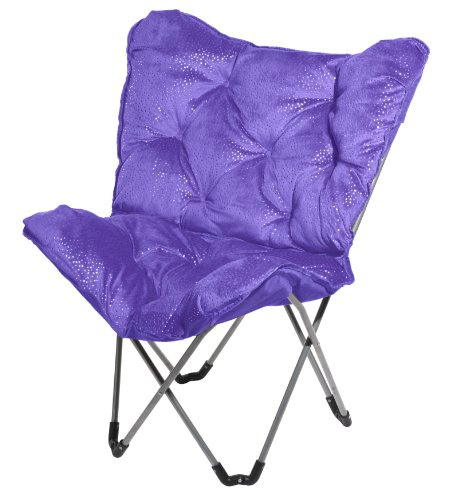 3C4G Sparkle Butterfly Chair Purple