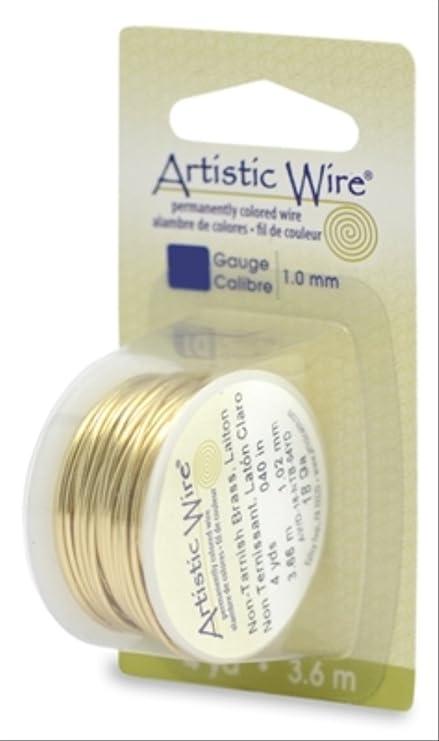 15-Yards Artistic Wire 28-Gauge Non-Tarnish Brass Wire