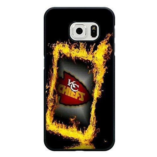 Schwarz Golden fashioanble Design NFL Kansas City Chiefs Handytasche Schutzhülle für Samsung Galaxy S6Edge