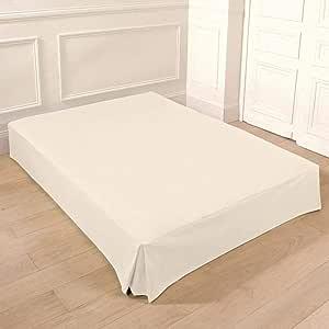 Colcha, colchón para cama, disponible en diferentes tamaños en color cáscara de huevo, tela, crudo, Bett 180 cm