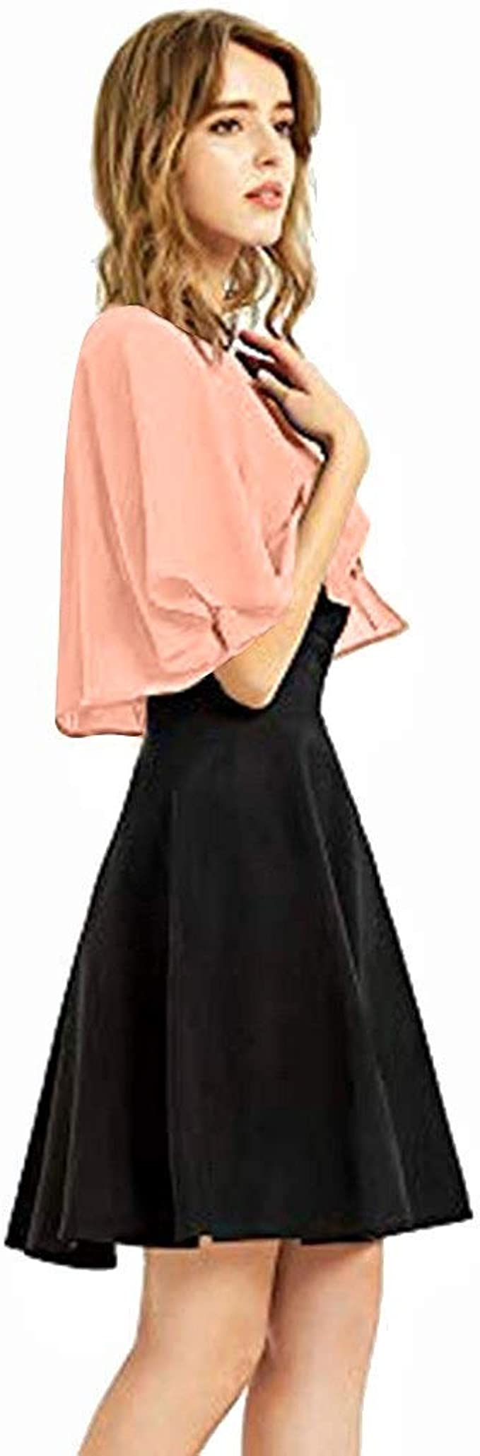 Women/'s Soft Chiffon Shawl Wraps For Evening Dress Wedding Cape Bolero Flapper