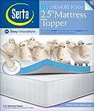 Serta 2.5-Inch Twin Gel-Memory Foam Mattress Topper