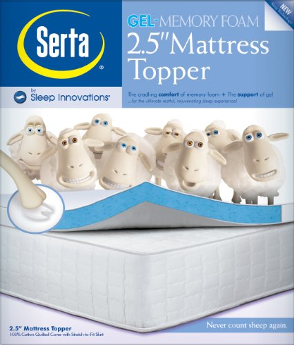 cbeb topper mattress ultimate memory serta comfort infused product inch foam bedding bath gel