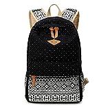 (US) Abshoo Cute Lightweight Canvas Bookbags School Backpacks for Teen Girls