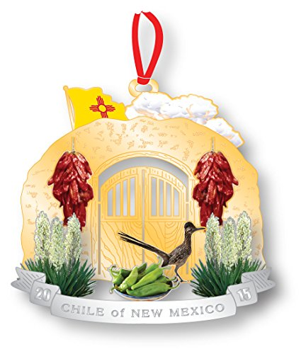 2016 Chile - New Mexico Governor's Mansion Christmas Ornament 2016 Chile of New Mexico