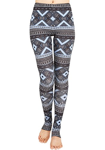 CinGr8 Women's Costume 3D Printed Leggings Foot Stirrups Stretchy Yoga Pants - Tall Guy Short Girl Costumes