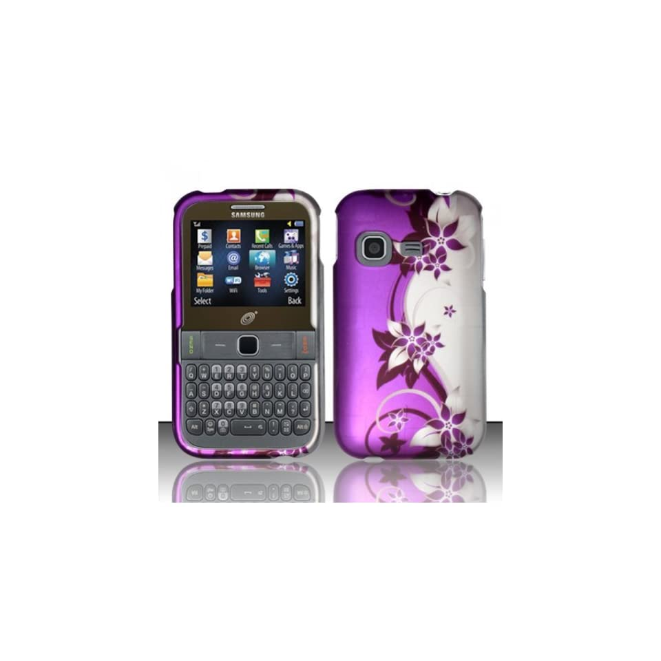 IMAGITOUCH(TM) 3 in 1 Bundle For Samsung S390G   Hard Case Snap on Cover (Purple/Silver Vine)+ Anti Glare LCD Screen Protector Shield(Ultra Clear)+Touch Screen Stylus