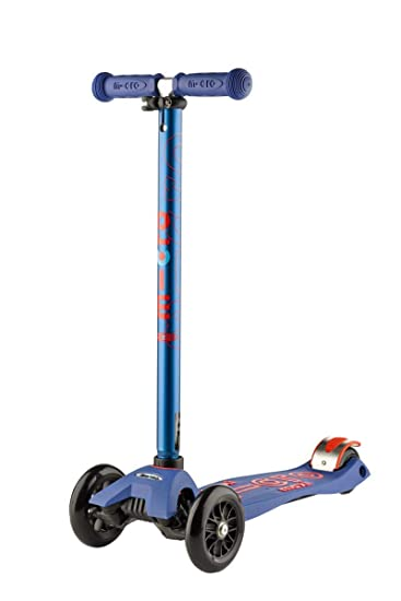 Micro Maxi Deluxe MMD023, Patinete 3 Ruedas, 5-12 Años, Carga Máx 70kg, Peso 2,5kg (Azul)
