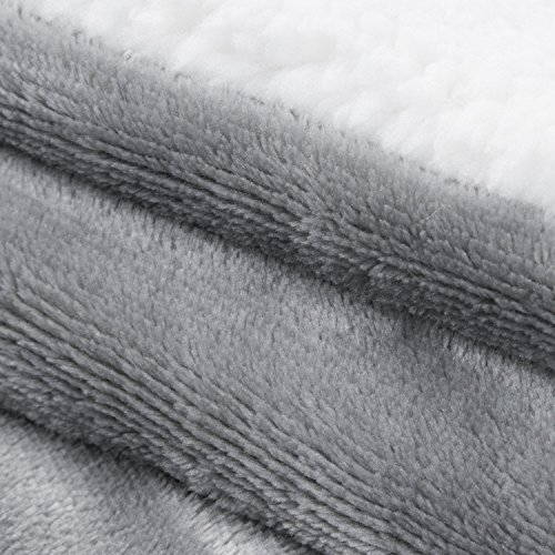 Bedsure Sherpa Throw Blanket Grey Throw Size 50x60 Bedding