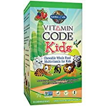 Garden of Life Vegetarian Multivitamin Supplement for Kids - Vitamin Code Kids Chewable Raw Whole Food Vitamin with Probiotics, 30 Chewable Bears