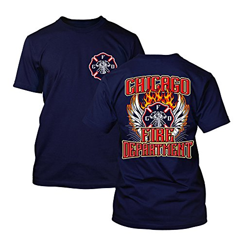 Chicago Fire Dept. - T-Shirt mit Flügel-Motiv
