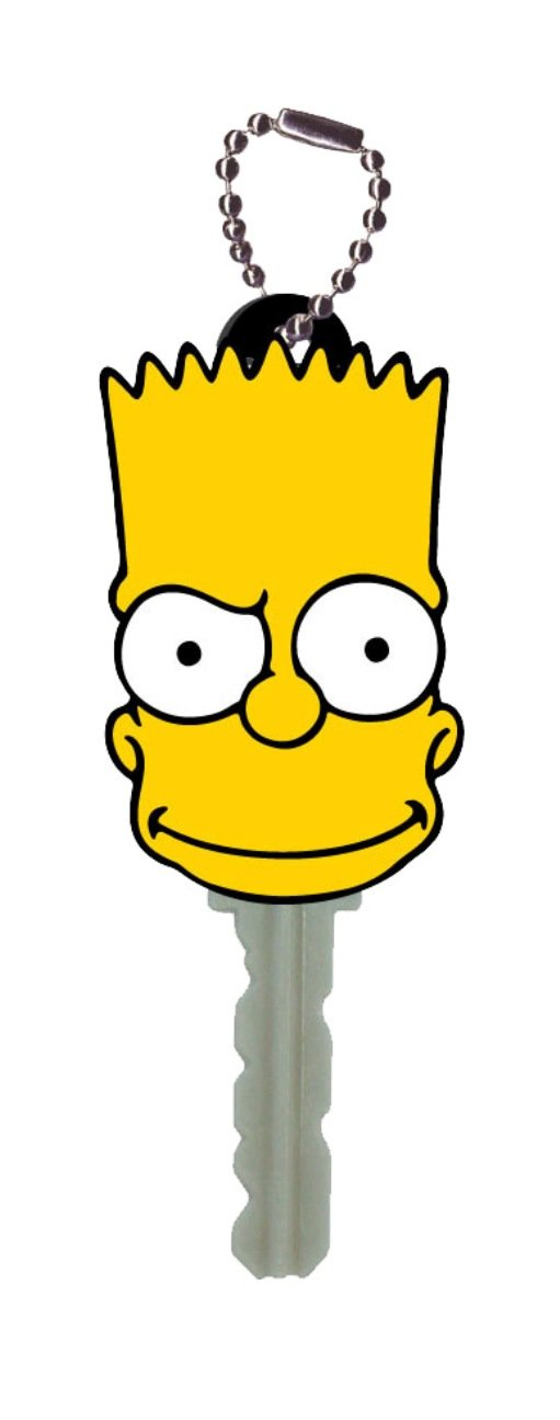 The Simpsons Bart Face PVC Key Holderhttps://amzn.to/2QKJtTa