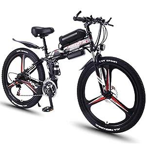 519xAmhNF L. SS300 JXH 26''Folding Electric Mountain Bike per Adulti, MTB con Freni a Disco Doppio, Rimovibile Biciclette Grande capacità…