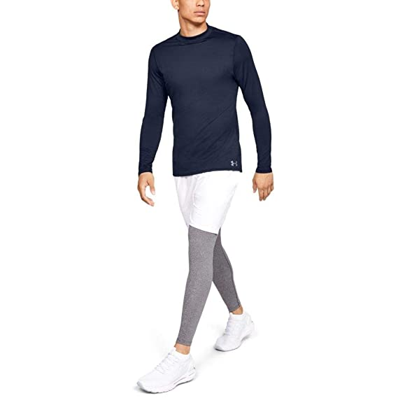 b3bf8b5fc Under Armour Men's ColdGear Armour Compression Mock Long Sleeve Shirt,  Midnight Navy (410)