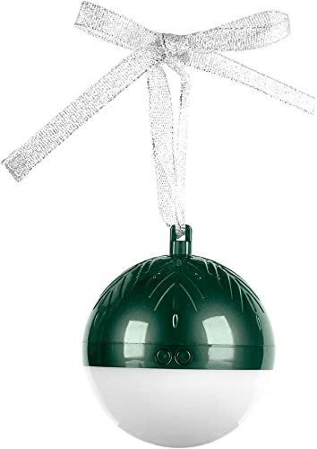 Link-Shine Smart Christmas Ball Bluetooth Speaker Ornaments Christmas Decorations Tree Balls Small for Holiday Wedding Party Decoration Green