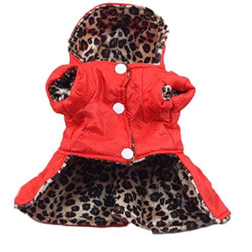 [AIMTOPPY Pet Dogs Leopard Dress Tops Puppy Cotton Hoodie Clothes (XS, brown)] (Pillowcase Dress Costume)