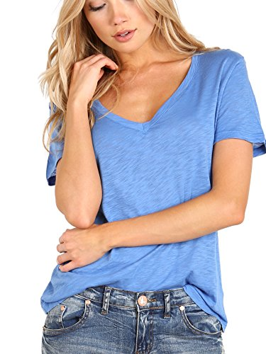 Splendid Slub Jersey Top (Splendid Women's Slub Jersey Tee, Nautical Blue, Medium)