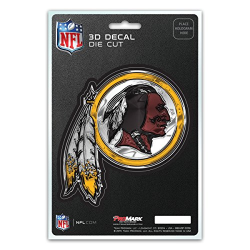 NFL Washington Redskins 3-D Decal Redskin Decal