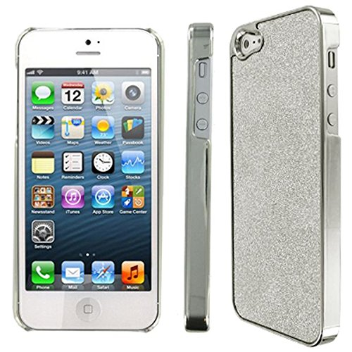 EMPIRE Silver Sparkling Glitter Slim-Fit Glam Case Tasche Hülle for Apple iPhone 5 / 5S