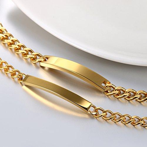 b9de6f1c82a2 Mejor JewelryWe DIY Pulseras parejas Acero inoxidable