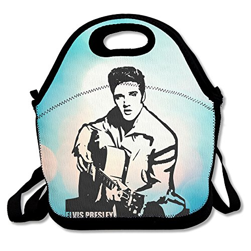 [Bekey Elvis Presley Guitar Lunch Tote Bag Lunch Box For Women Adults Kids Girls For Travel School Picnic Grocery] (Young Elvis Presley Costumes)