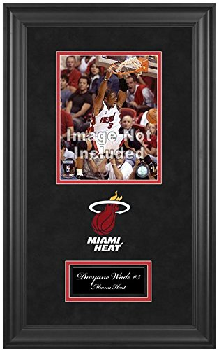 Mounted Memories Miami Heat Deluxe 8x10 Frame with Team Logo and Nameplate Deluxe Frame Miami Heat