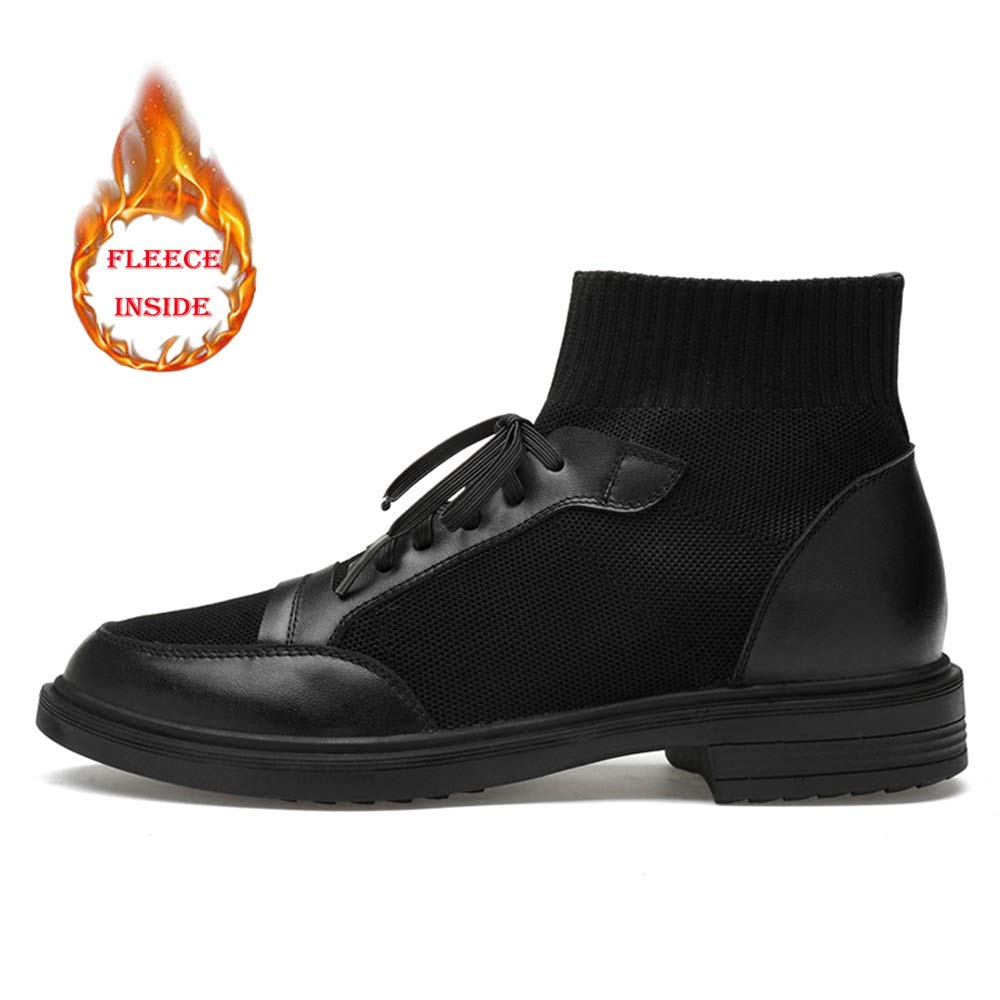 XHD-Schuhe Herren Casual Individuelle Individuelle Casual Nähte Winter Faux Fleece Inside High Top Stiefel (konventionell optional) Herren-Knöchelarbeitsstiefel dadcfb