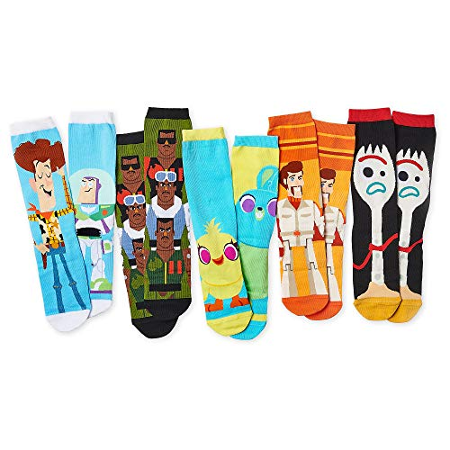 Disney Toy Story 4 Sock Set for Adults - 5 Pack Size M/L Multi