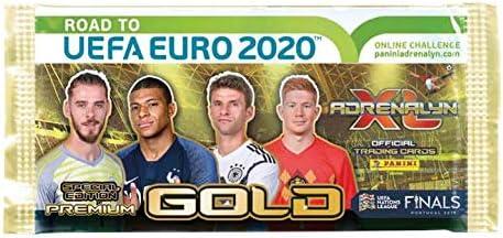 Panini Adrenalyn XL UEFA Euro EM 2020 3 x Premium Gold Booster Limited Edition