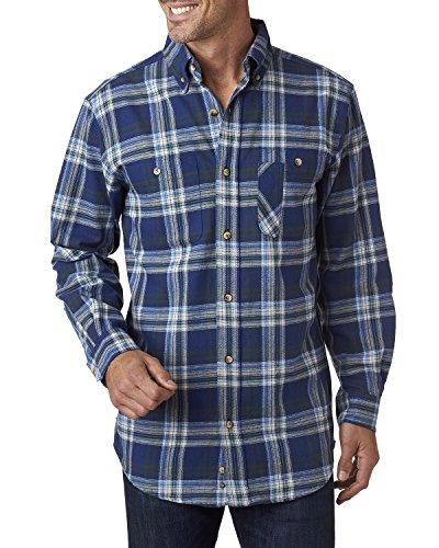 Yarn Dyed franela Blue camisa Green Mochilero z1wf1