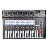 ammoon 120S-USB 12 Channels Mic Line Audio Mixer Mixing Console USB XLR Input