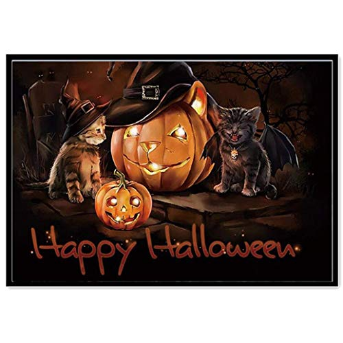 DIY 5D Halloween Pumpkin Skull Diamond Painting,Jchen(TM) Home Decor Halloween Gift 5D DIY Diamond Painting Round Diamond Embroidery Cross Stitch Arts Craft Canvas Wall Decor (Pumpkin: 40X30CM)]()