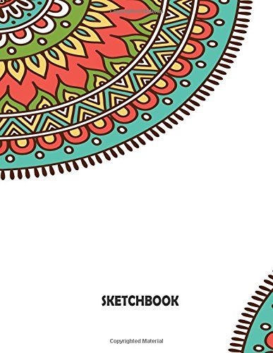 Sketchbook: Mandala Cover Blank pages, Extra large (8.5 x 11) inches, 110 pages, White paper, Sketch, Draw and Paint