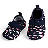 L-RUN Baby Water Shoes Barefoot Swim Pool Shoes Red White 12-18 Months=EU 19-20