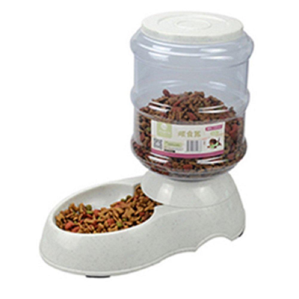 lzndeal 3.5L Dispensador de Comida de Mascotas, 3.5L / 11L alimentador automático de Mascotas Fuente de Agua de Gato Perro de plástico de Alimentos Bowl ...