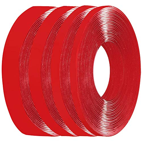 Double Sided Tape Heavy Duty Clear Waterproof Strong Adhesive Tape Acrylic Removable Mounting Tape for Home Decor, Room Decor, Bathroom Decor, Office Decor (4 Roll,Mixed Size)