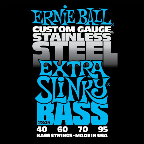 (Ernie Ball Stainless Steel Extra Slinky Bass Set, .040 - 95)