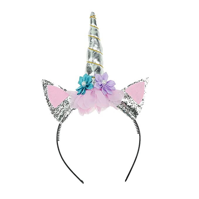 Pop Your Dream Cute Unicorn Horn and Flower Headband for Girls Kids Adults  Cosplay Costume Birthday Party