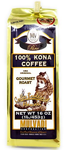 Mulvadi 100% Ground Kona Coffee