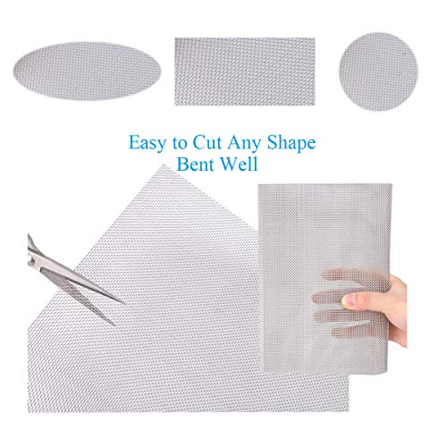 """3PACK Steel Mesh Screen 11""""X11""""(280mmX280mm), 20 Mesh Steel Woven Wire Mesh 304 - Never Rust 1mm Hole Keep Rodent Out or Make Any Shapes by way of Valchoose"""