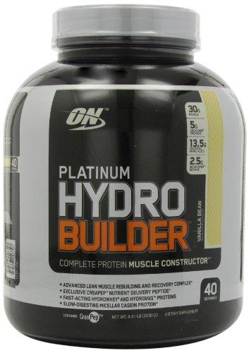 Optimum Nutrition Platinum Hydrobuilder, la gousse de vanille, 4,41-Pounds