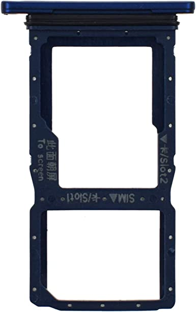 HLK-AL10 Dual SIM Card Slot Micro SD Card Holder Waterproof Rubber Ring Replacement for Honor 9X Pro-Sapphire Blue