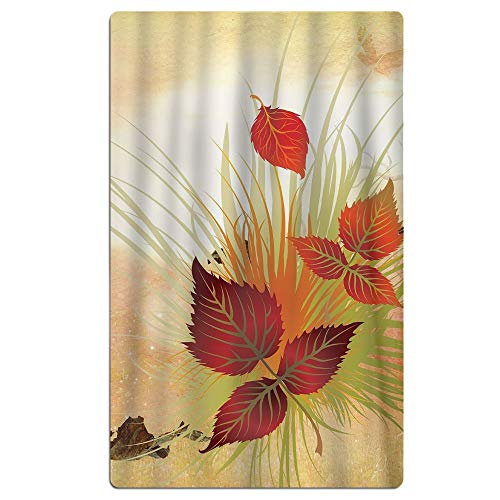 Phyllis Walker Butterfly Fall Leaves Beach Towel Soft Quick Dry Lightweight High Absorbent Pool Spa Towel Men Women 31 X 51 Inch